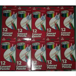 10 Packs RoseArt Rose Art 12 Packs Colored Pencils